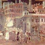 Effetti del Buon Governo in città, 1338-1340, Sala della Pace, Palazzo Pubblico, Siena