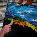 Estemporanea di Pittura 2015 a Pietralunga, foto di Fabio Menichini