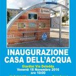 inaugurazione della prima casa dell'acqua a Capurso