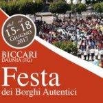 festa nazionale dei borghi autentici d'italia a Biccari (FG) 15-18 giugno