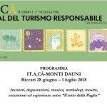IT.A.CÀ arriva sui Monti Dauni: a Biccari (Fg) dal 28 giugno