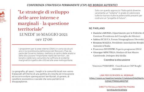 Le strategie di sviluppo delle aree interne e marginali - la questione territoriale