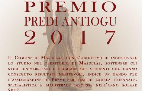Premio Tesi di Laurea Predi Antiogu 2017