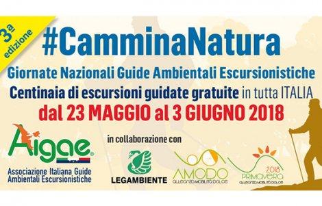 #CamminaNatura: escursioni gratuite in Italia dal 23 maggio al 3 giugno