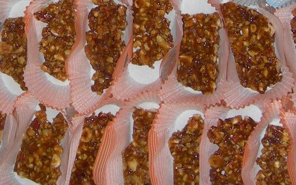 Su Gattou croccante di nocciole tipico di Aritzo
