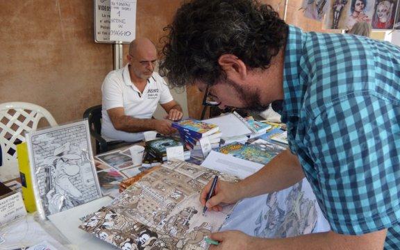 Autori-Bonfa-Casty-Betty B festival del fumetto e dell'immagine-foto-Rafael-Cavalli