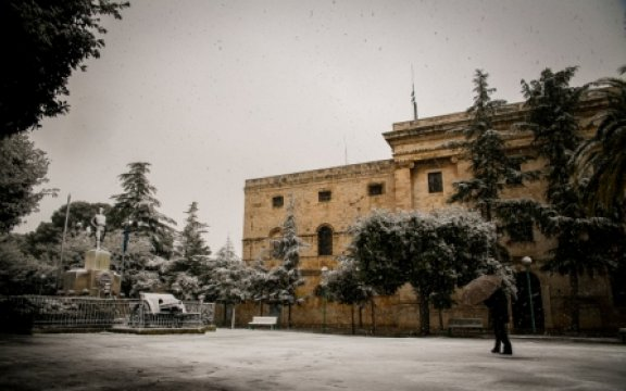 Turi, Carcere con neve . ph. Maria Rosaria Venere