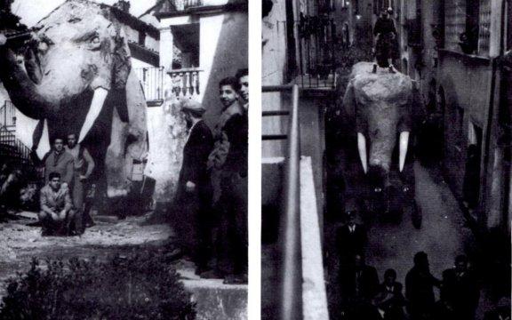 Cerisano-carro-allegorico-Elefante-1957