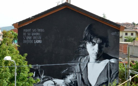 Tonara-Murales-LOUIS Gomez-omaggio-a Peppinu-Mereu