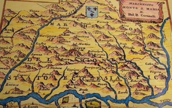 Mappa dell'antico Marchesato di Monte Santa Maria Tiberina