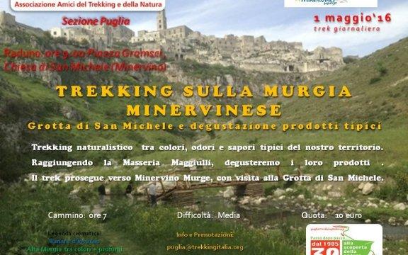 minervino murge, giornata dedicata al trekking sulla murgia minervinese