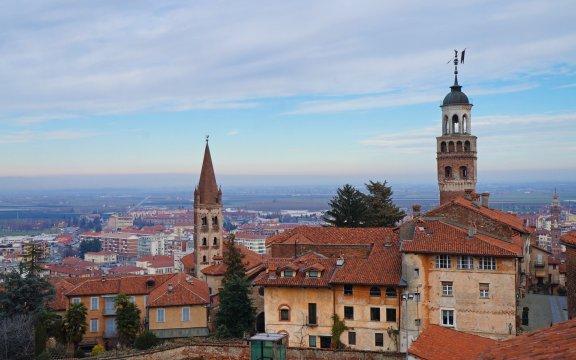 saluzzo panoramica tetti della città