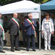 festa nazionale borghi autentici 2010 levice inaugurazione alla presenza dei sindaci dei borghi