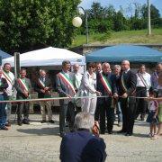 festa nazionale borghi autentici 2010 levice inaugurazione alla presenza dei sindaci dei borghi taglio del nastro