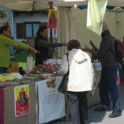 festa nazionale borghi autentici 2008 sauris stand con prodotti tipici dei territori